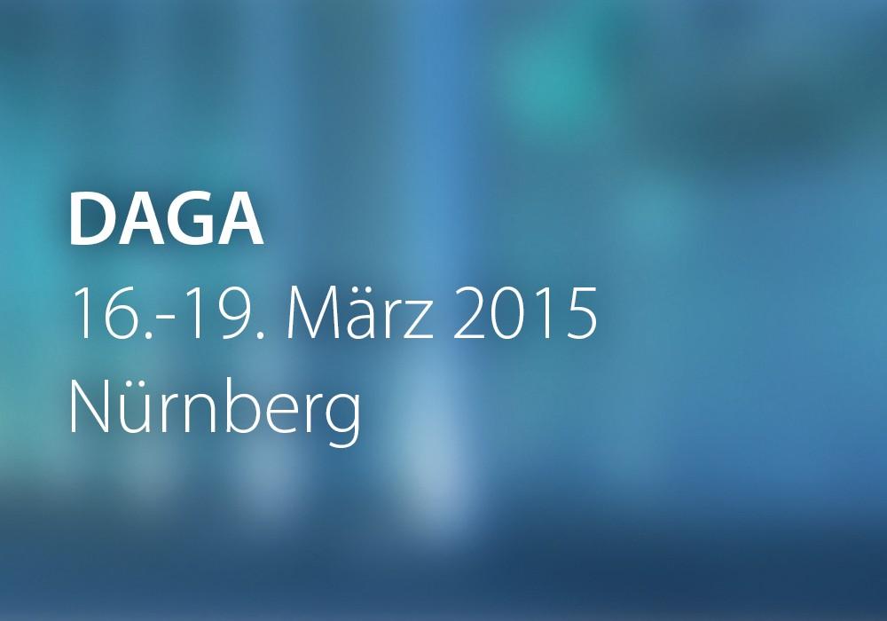 Vorschau: DAGA_2015