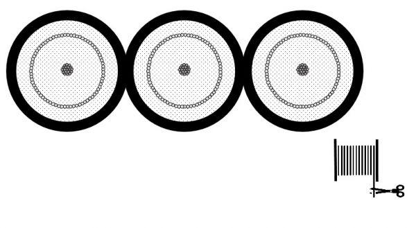 Mogami 3243 Koaxialkabel, 75 Ohm, Triple-Version, Ø 3 x 3,00 mm